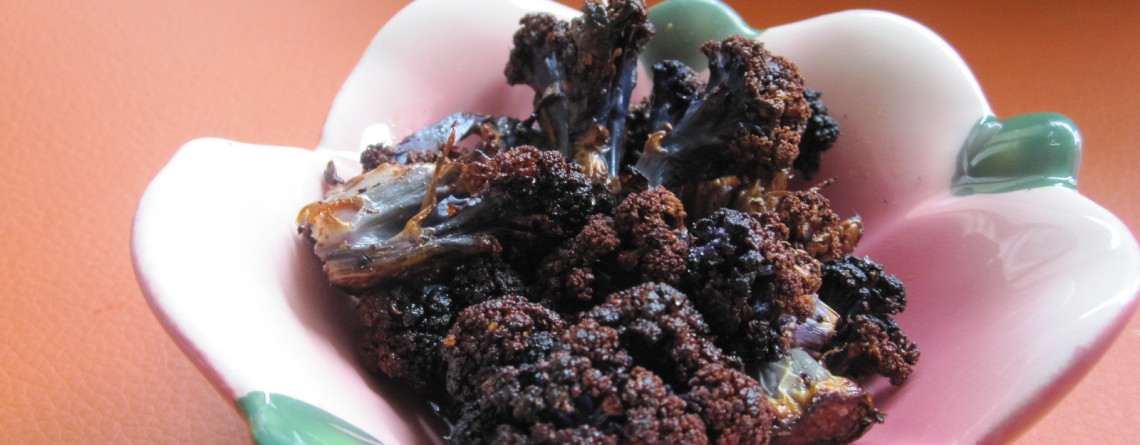 Monica's Indian Express: Spice Rubbed Purple Cauliflower