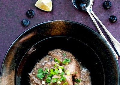 Monica's Indian Express: Blueberry Chicken Curry By Gurpareet Bains