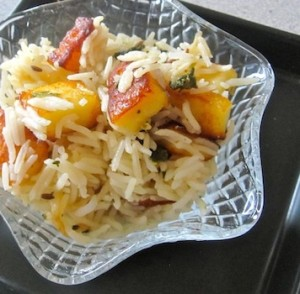 Spinach and Cheese Pulao