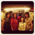 With Cathy Chung, Vaddey Ratner and Cheryl Tan