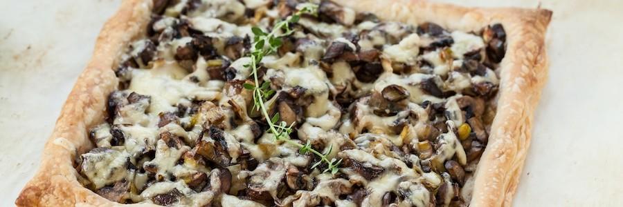 Mushroom, Leek, and Gruyere Tart