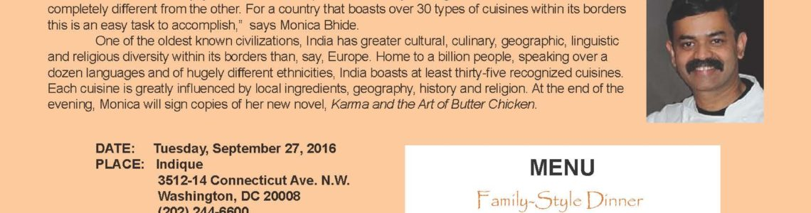 SOLD OUT: A Regional Tour of Indian Curries at Indique