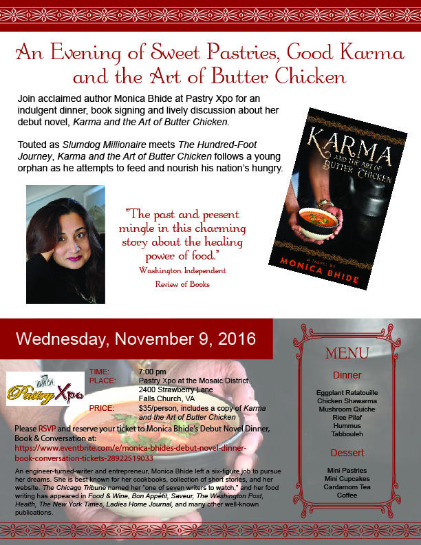 Book Talk and Dinner at Pastry Xpo