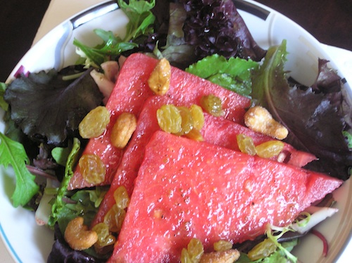 Watermelon and Raisin salad