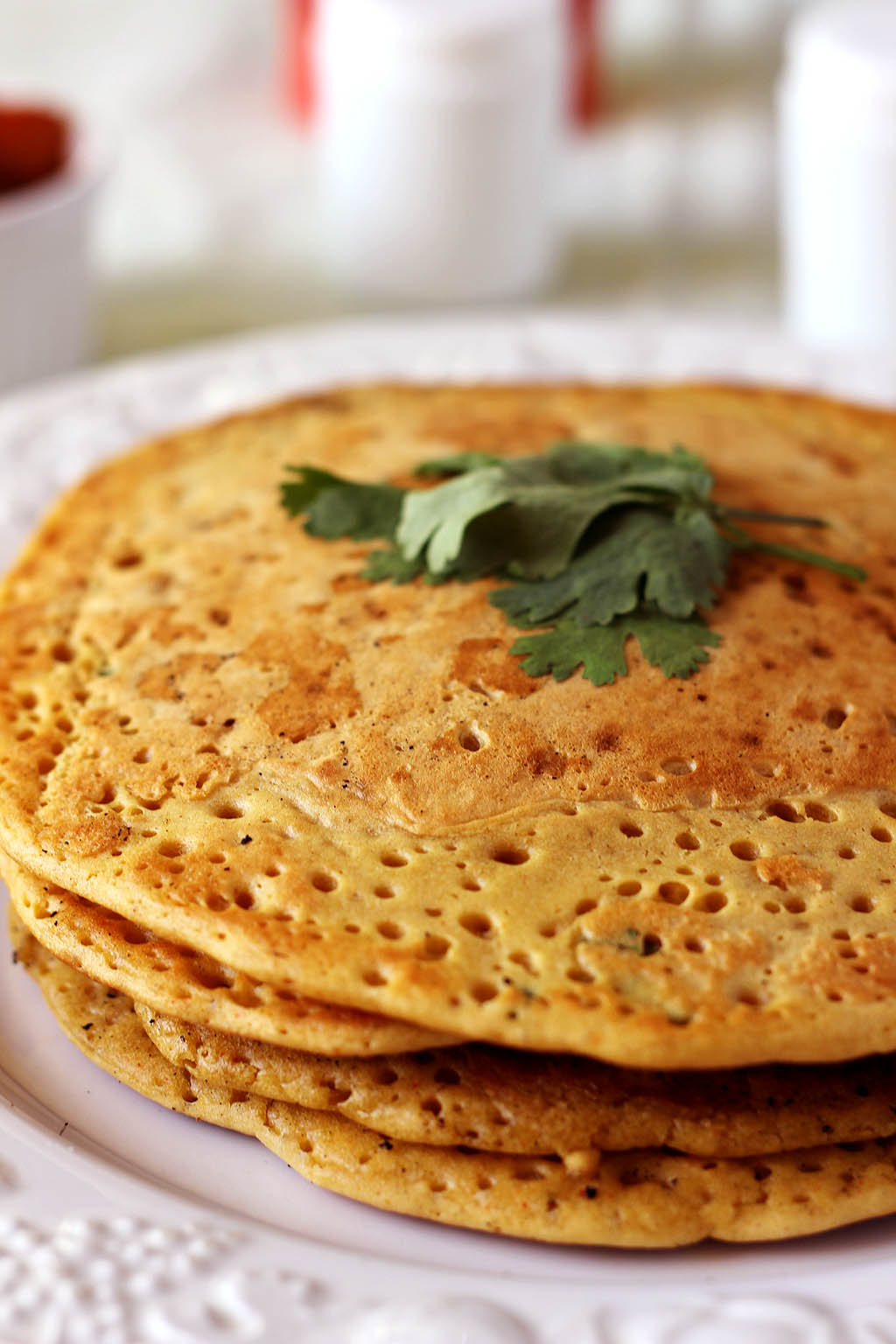 Monica's Indian Express: Chickpea crepes (gluten-free)