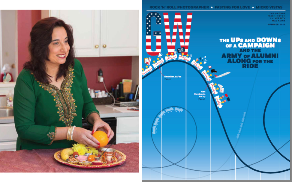 George Washington University Alumni magazine features Monica Bhide